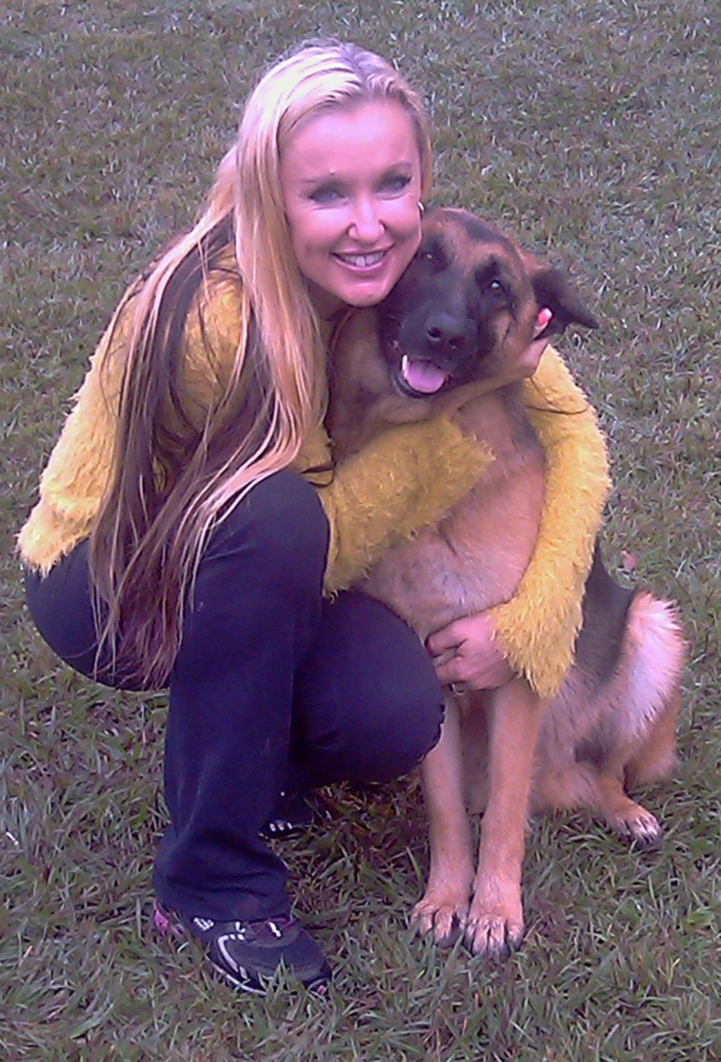 german-shepherd-Zella-getting-hugs
